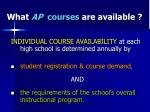 what ap courses are available
