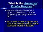 what is the advanced studies program