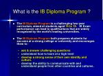 what is the ib diploma program