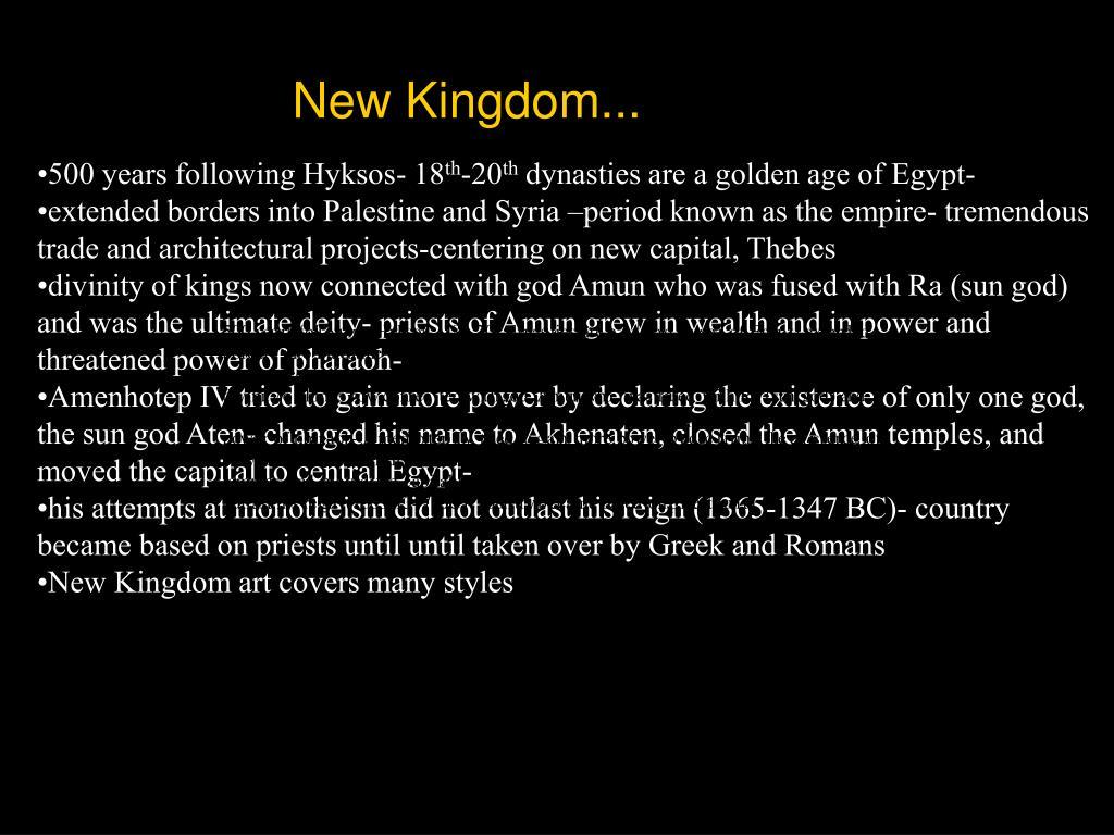 New Kingdom...