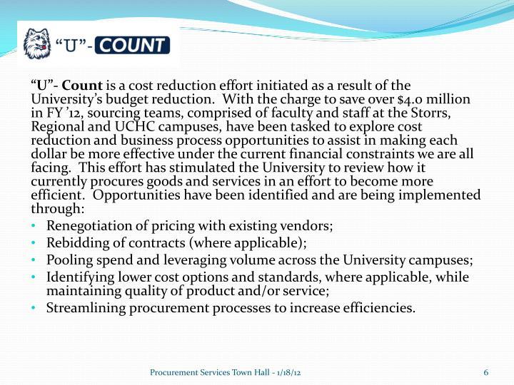 """""""U""""- Count"""