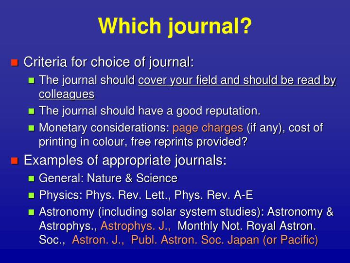 Which journal?