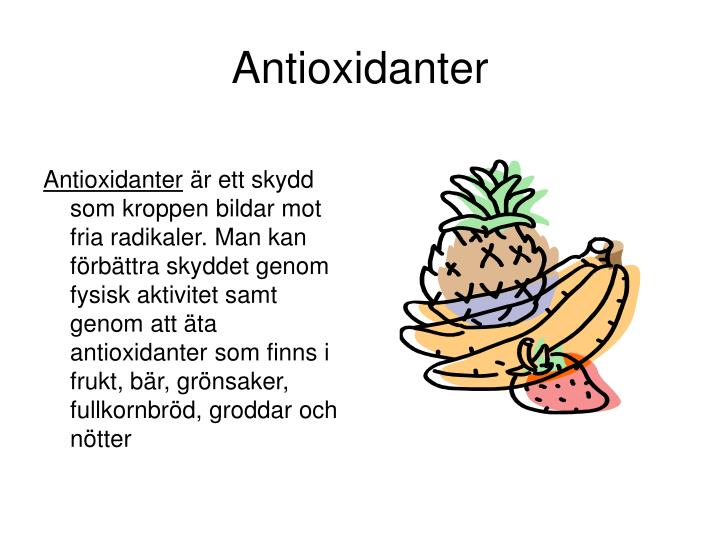 Antioxidanter