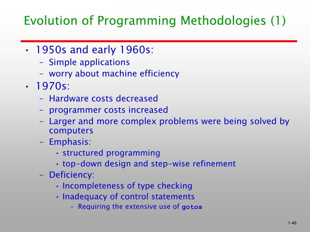 Evolution of Programming Methodologies (1)