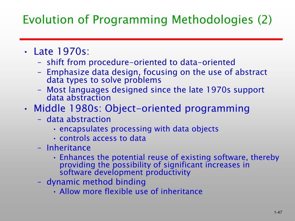 Evolution of Programming Methodologies (2)