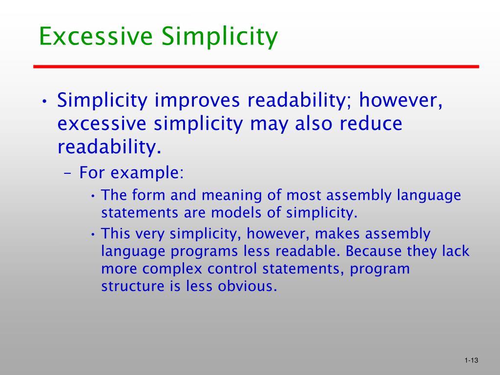 Excessive Simplicity