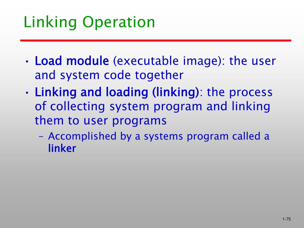 Linking Operation
