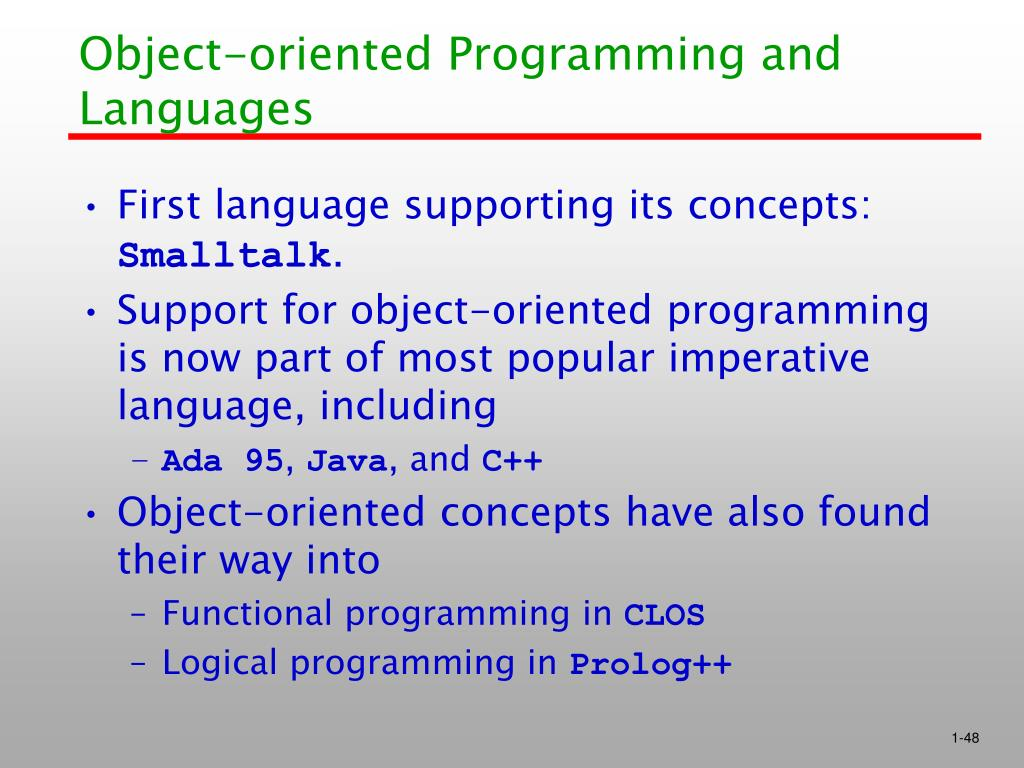 Object-oriented Programming and Languages