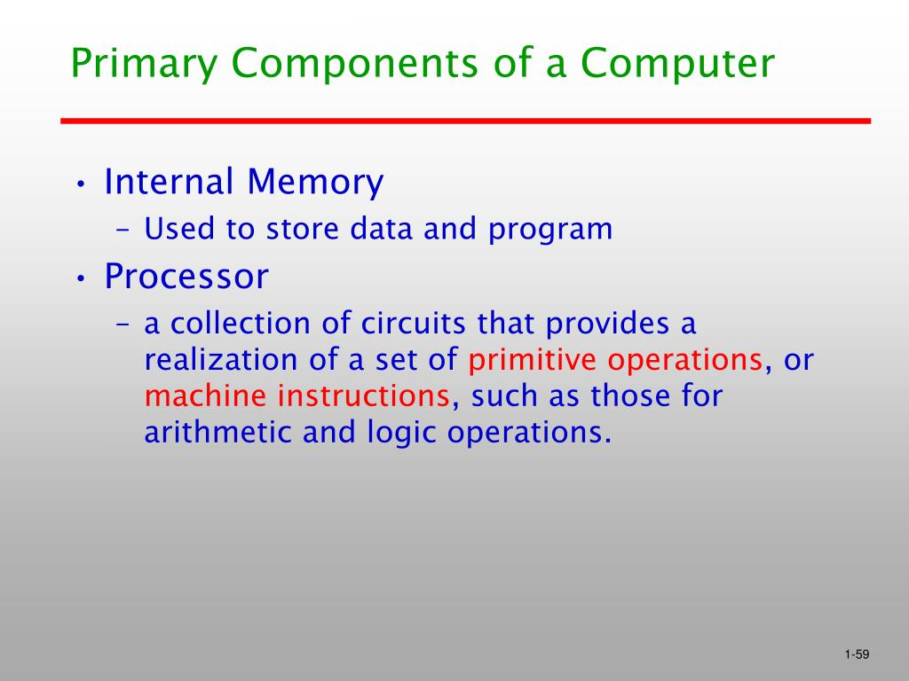 Primary Components of a Computer