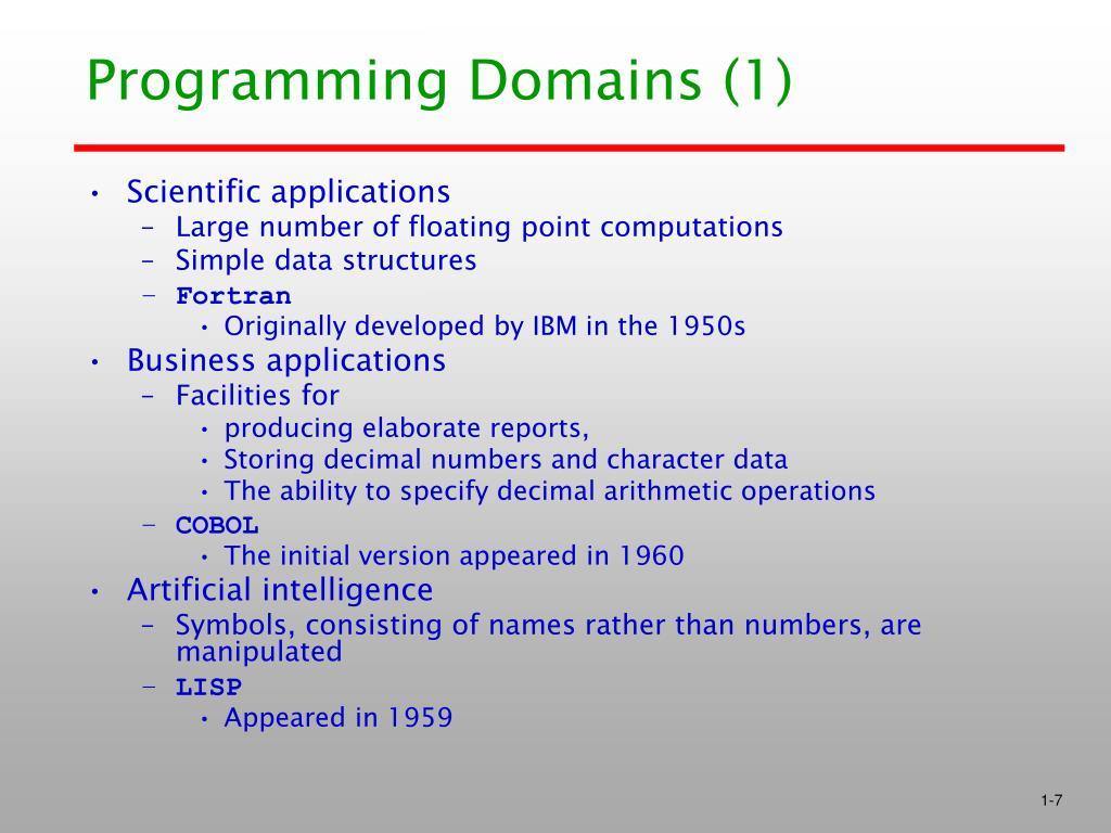 Programming Domains (1)