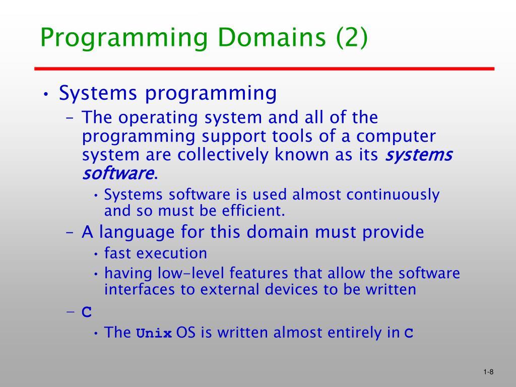 Programming Domains (2)
