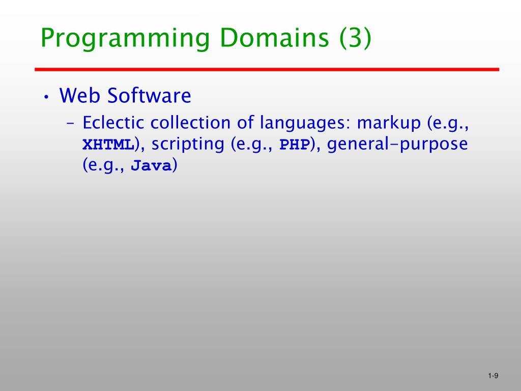 Programming Domains (3)