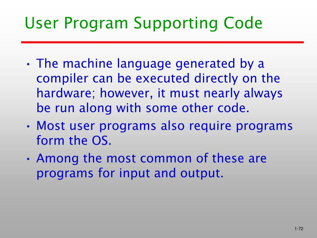 User Program Supporting Code