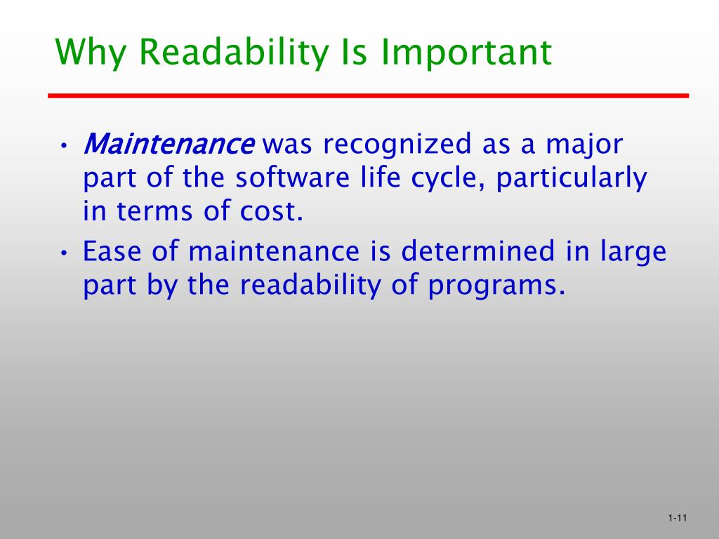 Why Readability Is Important