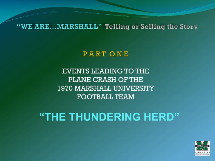 We are marshall telling or selling the story2