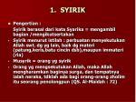 1 syirik