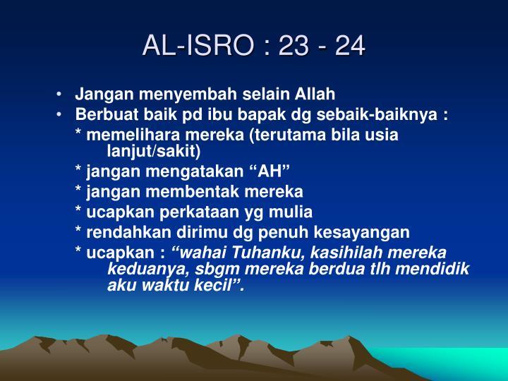 AL-ISRO : 23 - 24