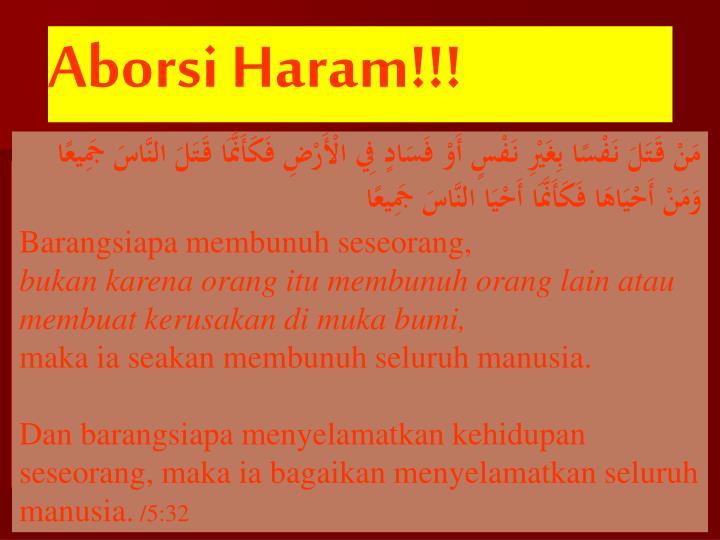 Aborsi Haram!!!