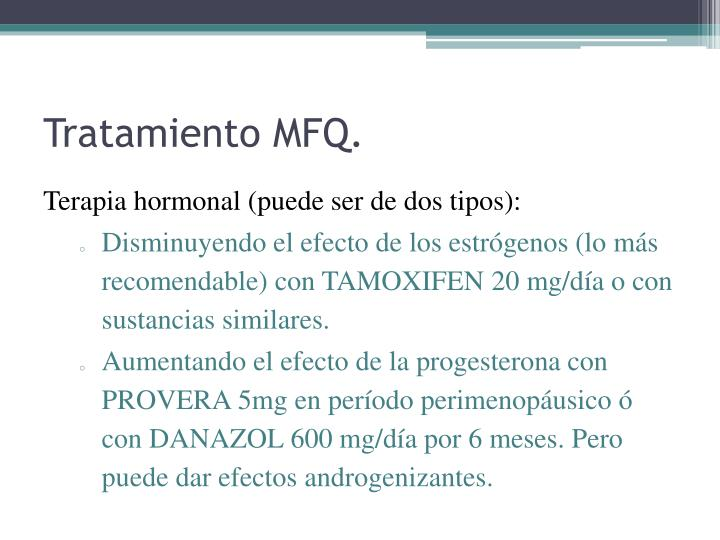 Tratamiento MFQ.