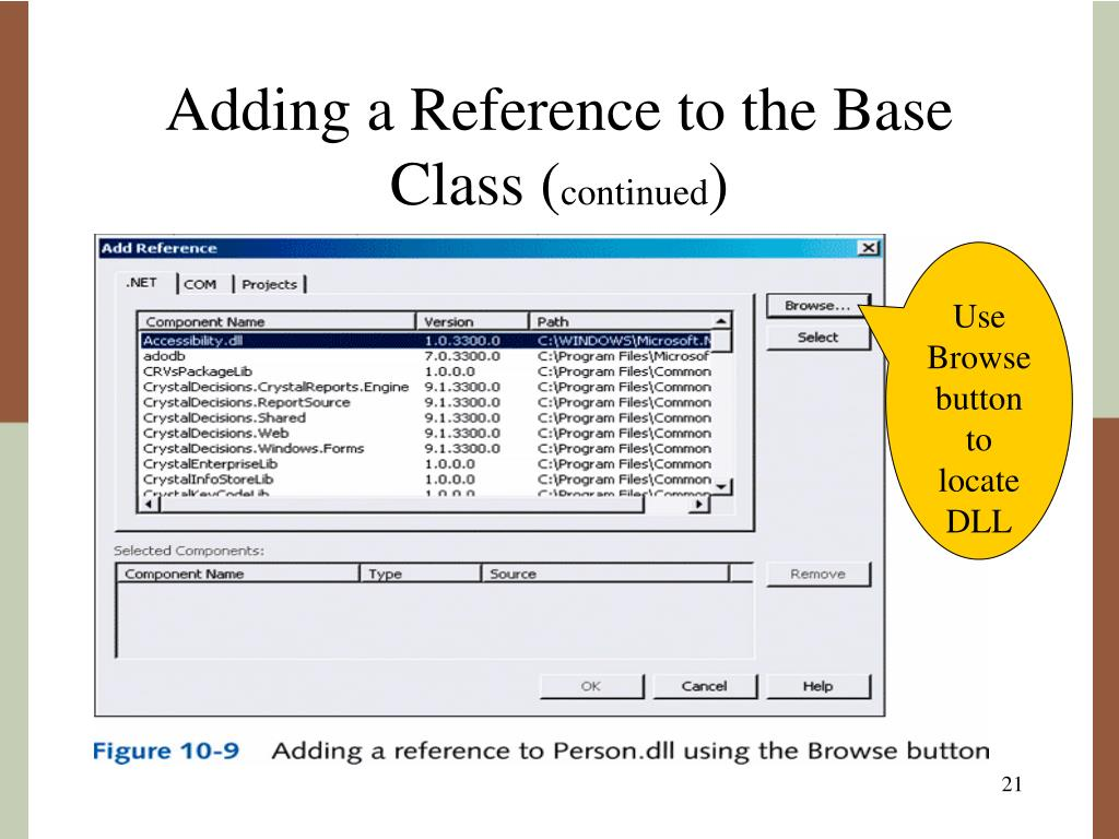 Adding a Reference to the Base Class (
