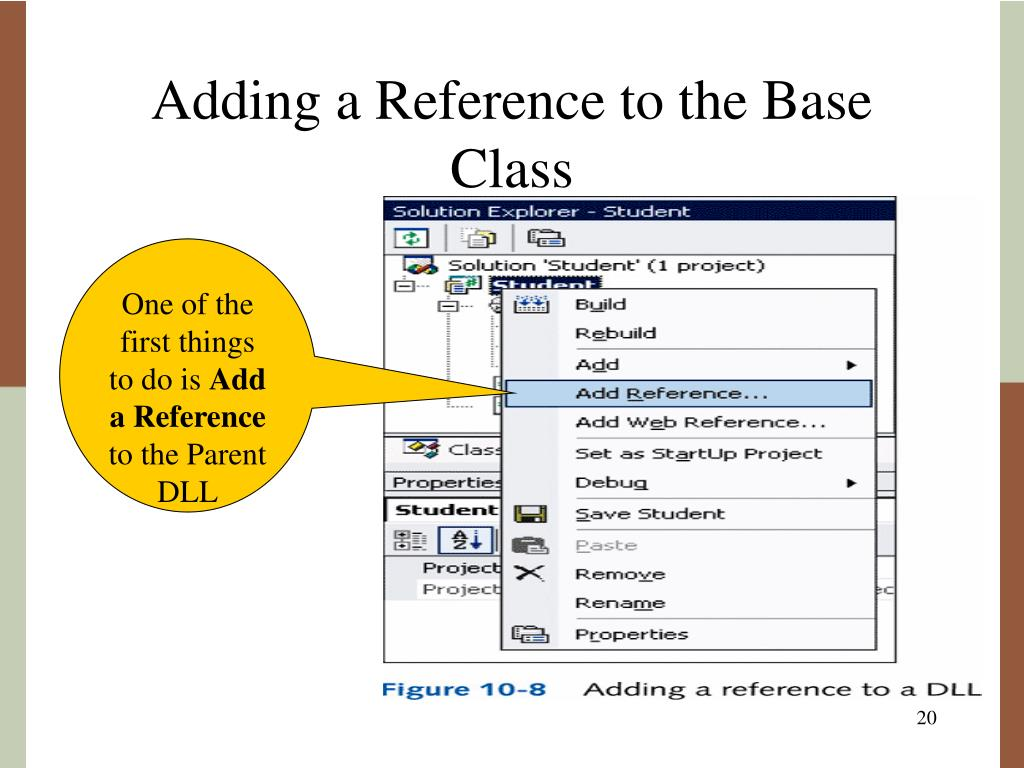 Adding a Reference to the Base Class