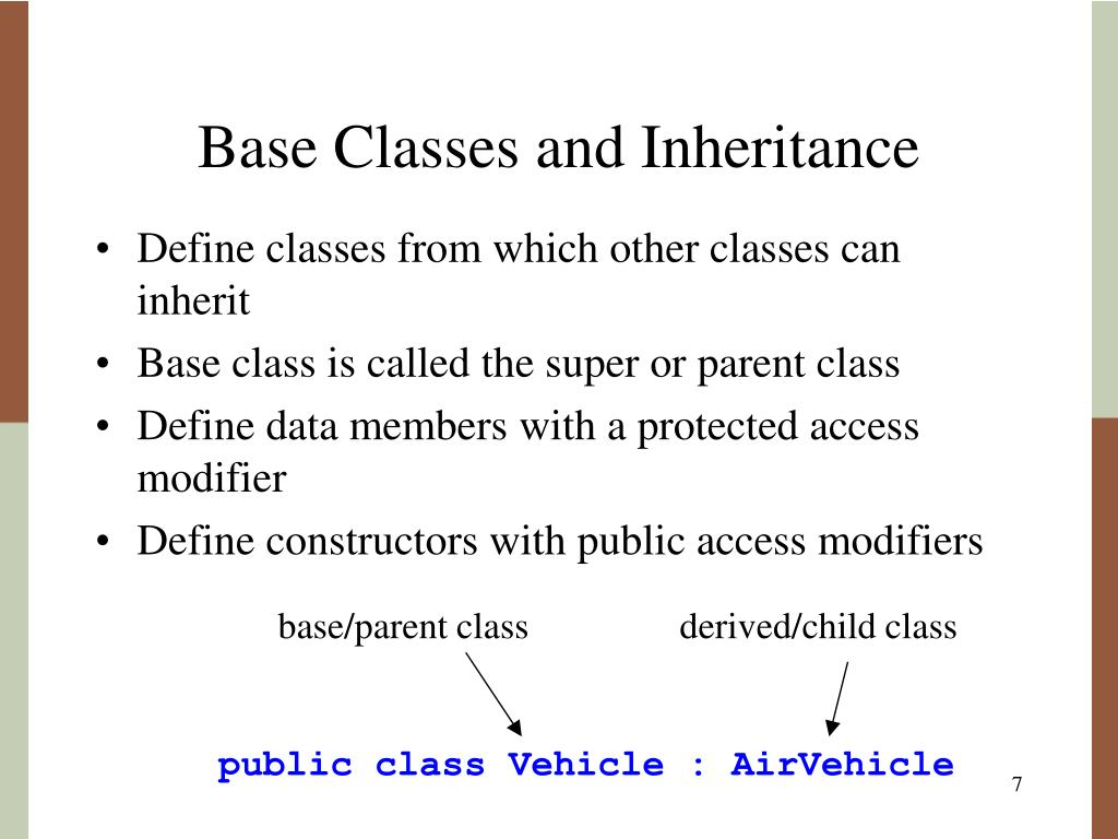 Base Classes and Inheritance