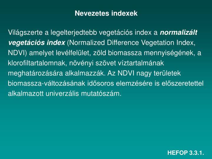 Nevezetes indexek