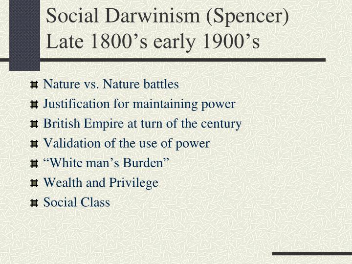 Social Darwinism (Spencer)