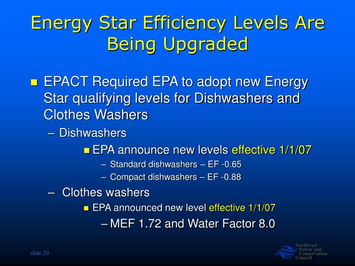 Energy Star Efficiency Levels Are Being Upgraded