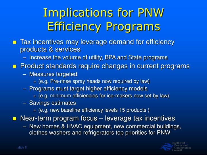 Implications for PNW Efficiency Programs