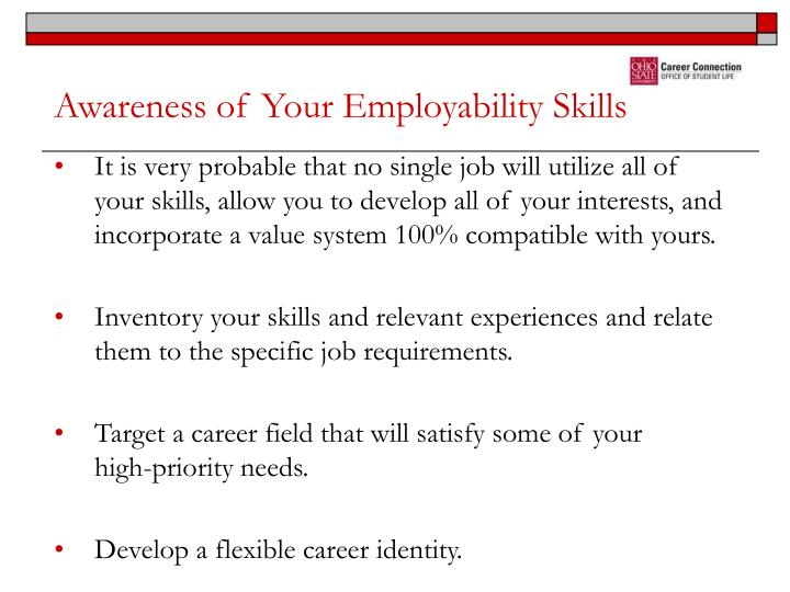 Awareness of Your Employability Skills