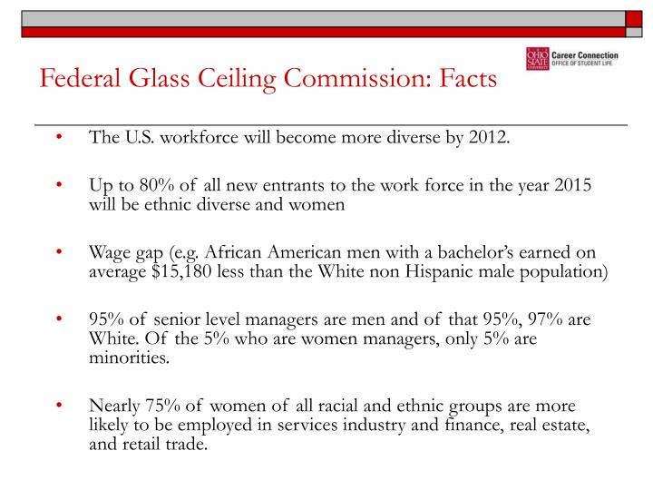 Federal glass ceiling commission facts