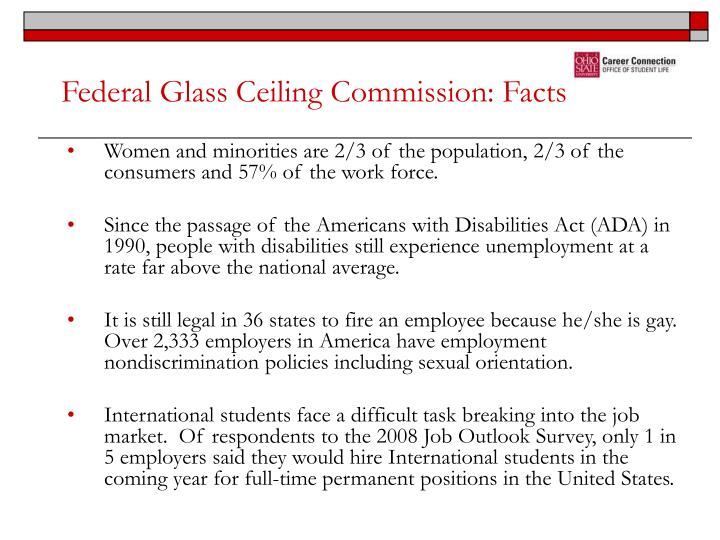Federal Glass Ceiling Commission: Facts