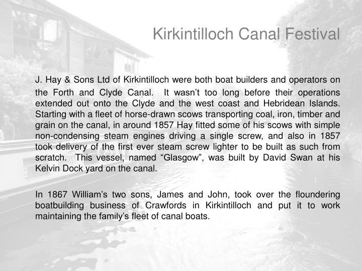 Kirkintilloch Canal Festival