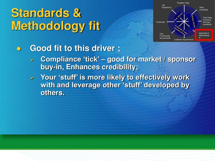 Standards & Methodology fit