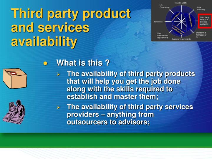 Third party product and services availability