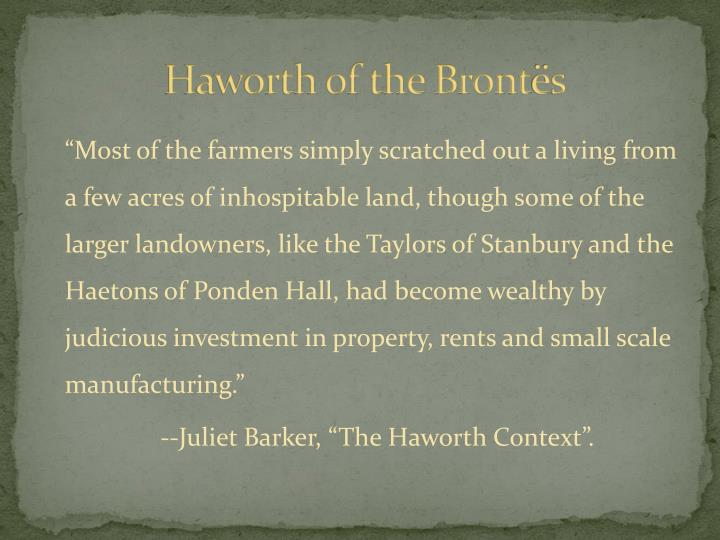 Haworth of the Bront