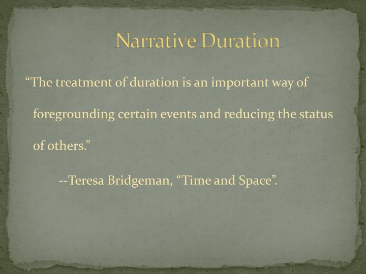 Narrative Duration