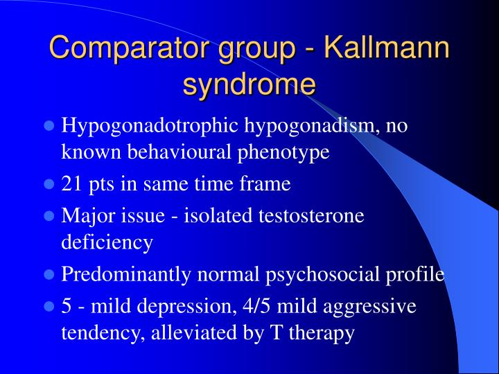 Comparator group - Kallmann syndrome