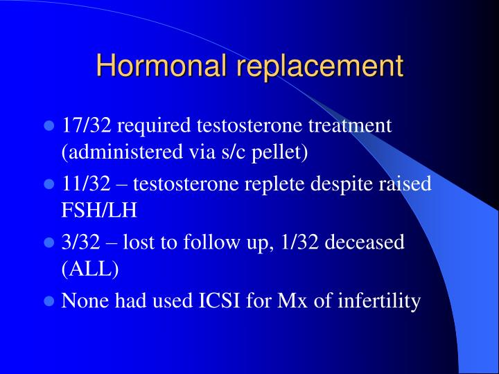 Hormonal replacement