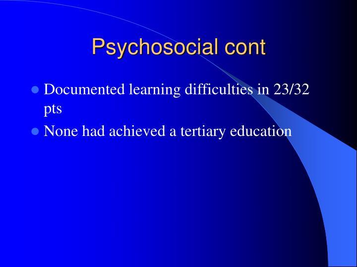 Psychosocial cont