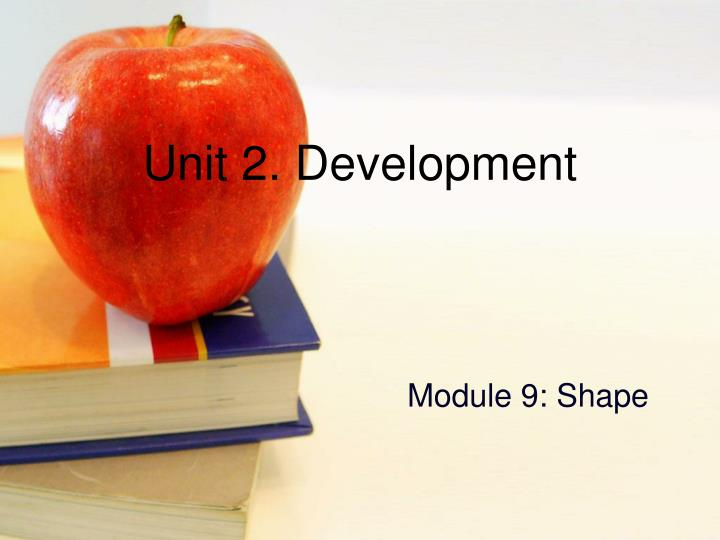 Unit 2. Development