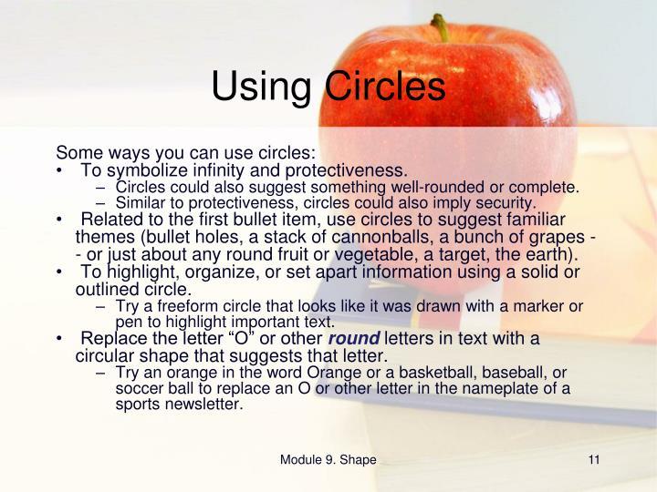 Using Circles