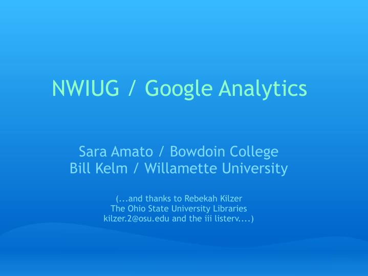 Nwiug google analytics