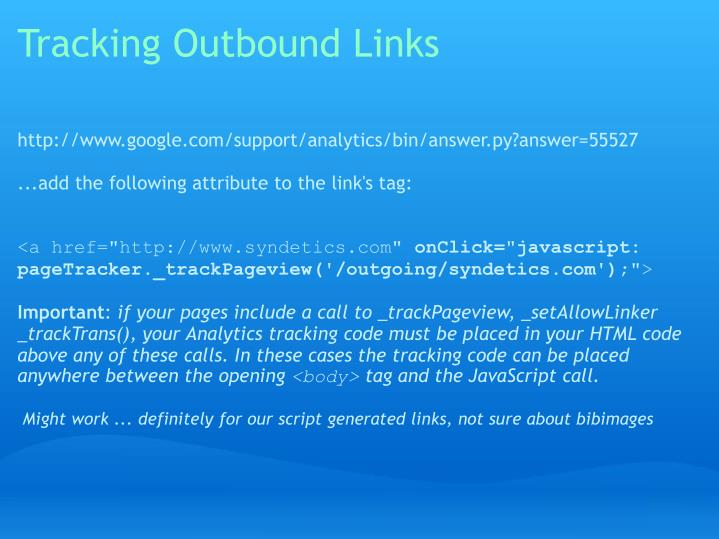 Tracking Outbound Links