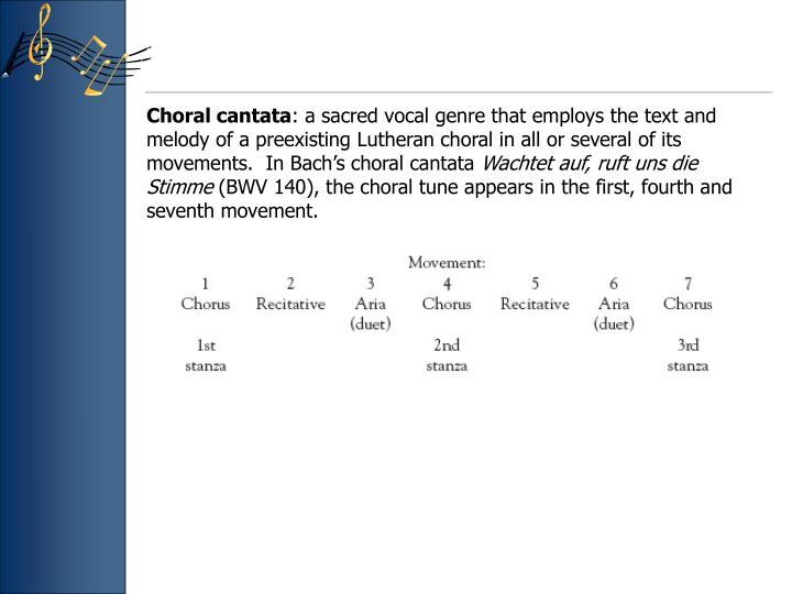 Choral cantata