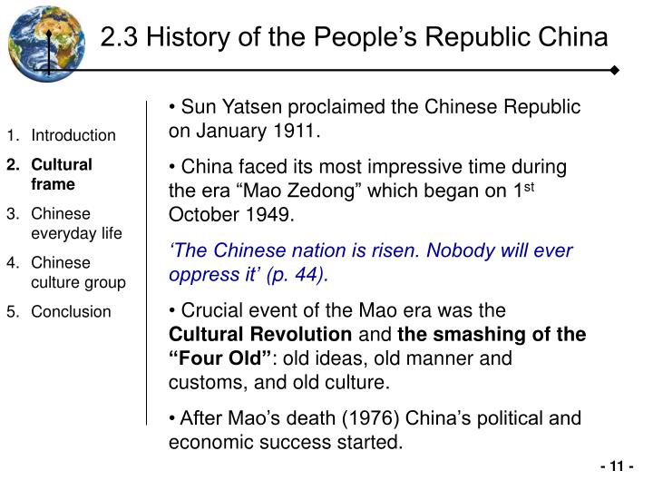 2.3 History of the People's Republic China