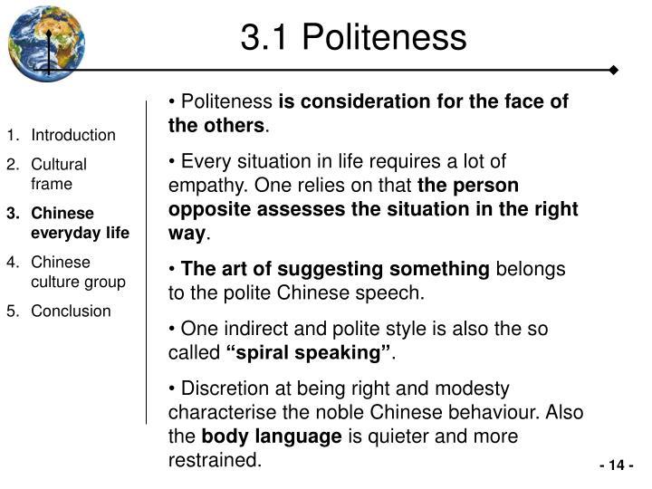 3.1 Politeness