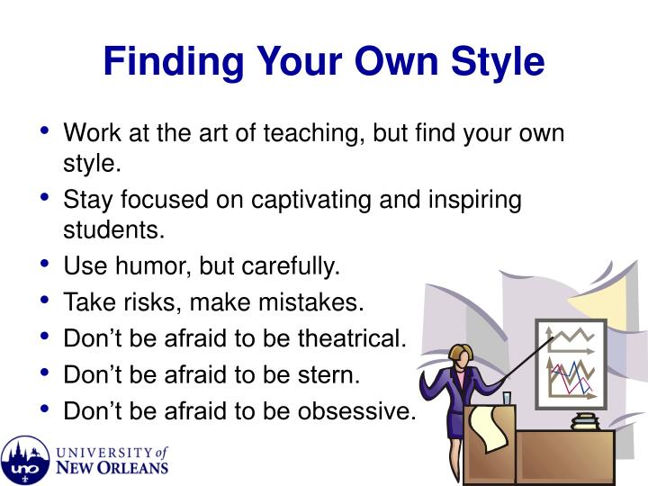 Finding your own style