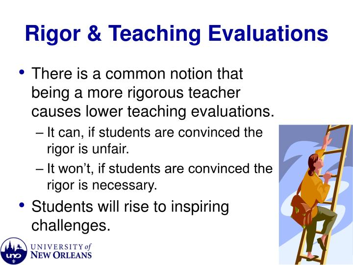 Rigor & Teaching Evaluations